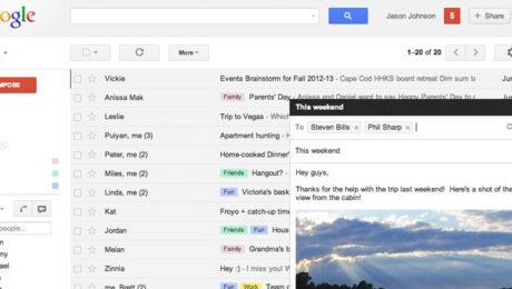 Gmail cambia e rende più facile scrivere email