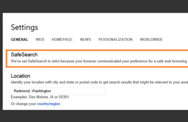 Bing attiva il sistema SafeSearch per i minori