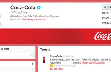 Account Twitter di Coca Cola