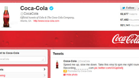 Account Twitter di Coca Cola