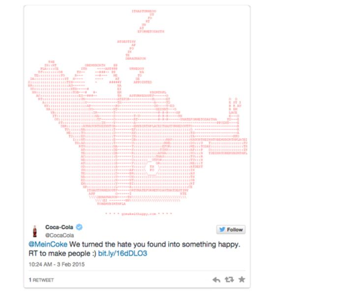 La Coca Cola è rimasta vittima di un inganno su Twitter