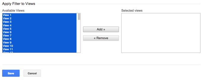 I filtri per le query su Google Analytics