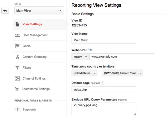 Esclusione manuale delle query su Google Analytics