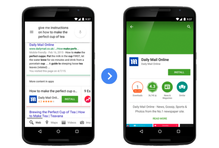 ricerca mobile app