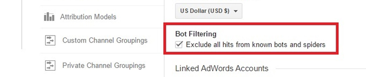 Eliminare spam e bot da Google Analytics: impostazioni amministratore