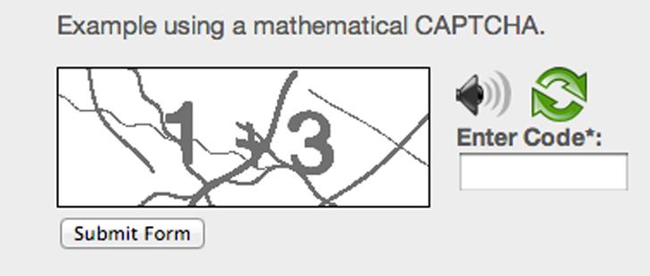 Captcha matematico